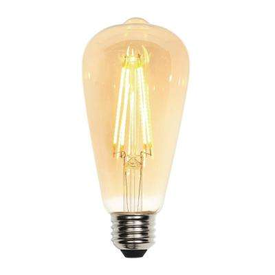 60W Equivalent Amber ST20 Dimmable Filament LED Light Bulb