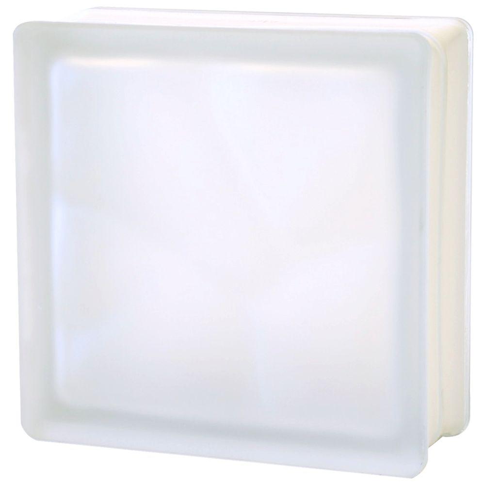 TAFCO WINDOWS 7-1/2 in. x 7-1/2 in. x 3-1/8 in. Wave Pattern Satin Color Glass Block 5/CA