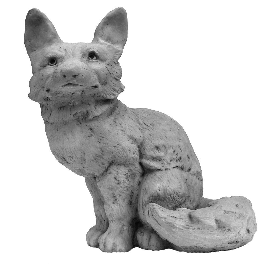 Cast Stone Garden Statues Nichols bros stoneworks cast stone fox garden statue antique gray stoneworks cast stone fox garden statue antique gray workwithnaturefo