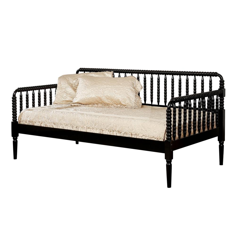 - William's Home Furnishing Linda Twin Daybed In Black-CM1741BK-BED
