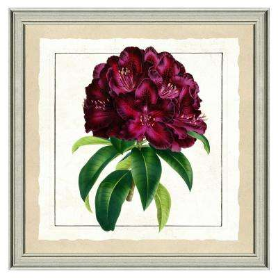 """24 in. x 24 in. """"Passionate Bloom"""" Framed Archival Paper Wall Art"""