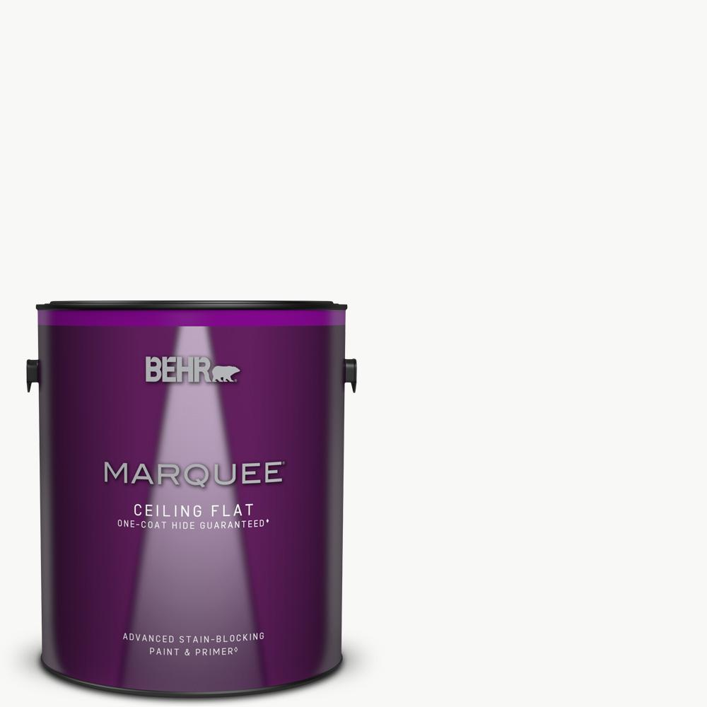 BEHR MARQUEE 1 gal. White Ceiling Flat Interior Paint and Primer in One