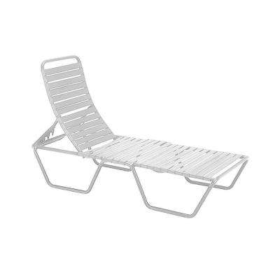 Milan White Commercial Patio Chaise Lounge