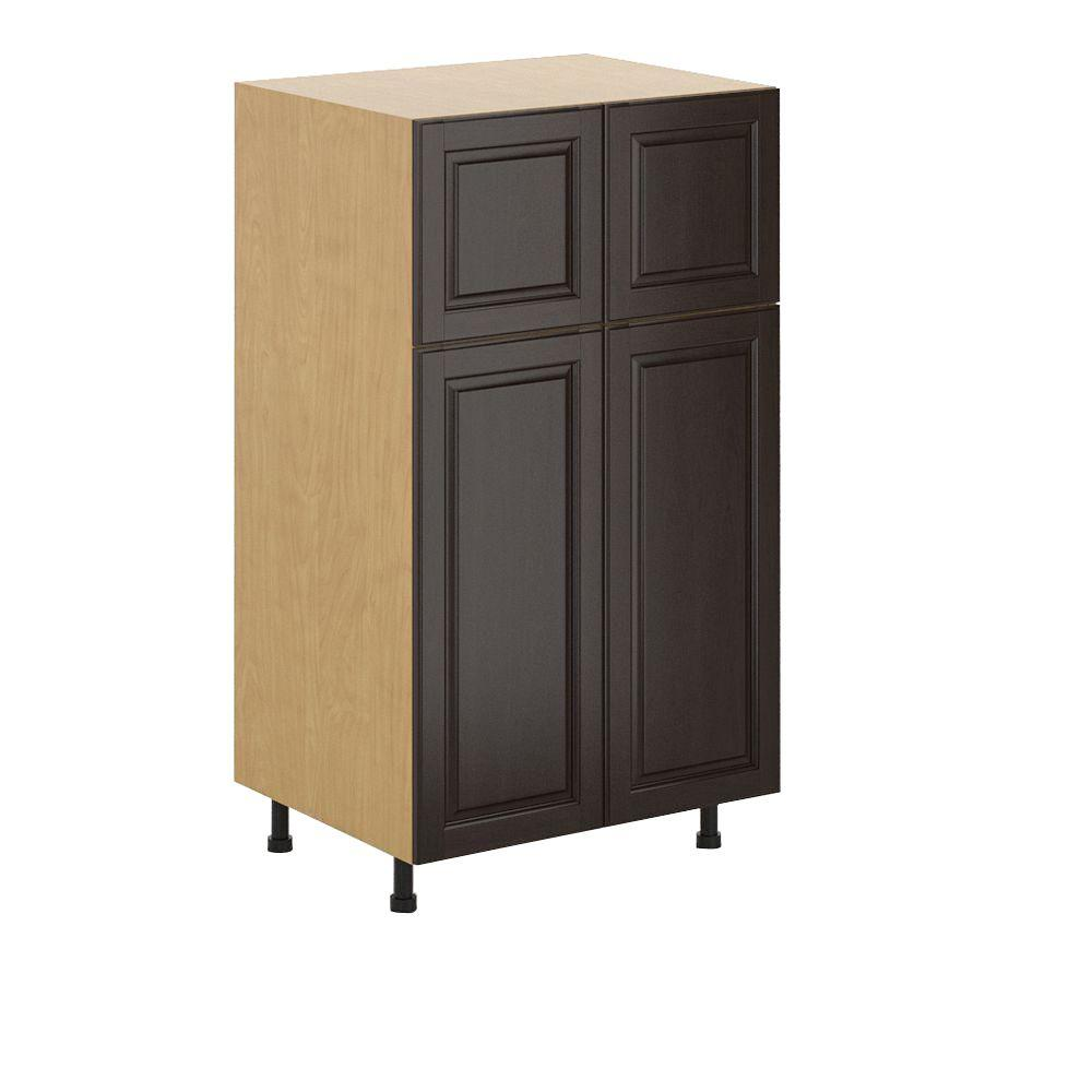 Eurostyle Naples Ready To Assemble 30 X 49 X 24 5 In Pantry Utility Cabinet In Maple Melamine
