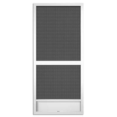 36 in. x 80 in. Canoe Creek White Aluminum Screen Door