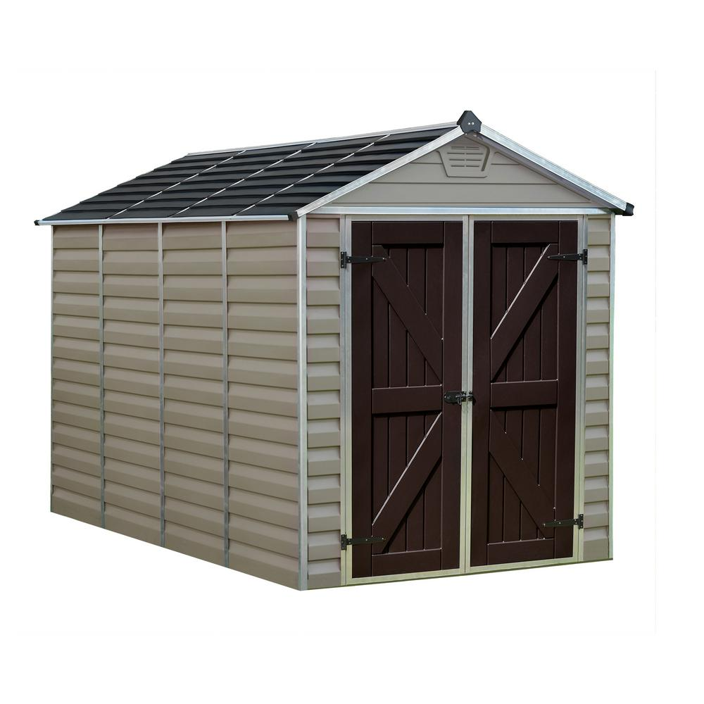 palram 6 ft x 10 ft tan skylight shed