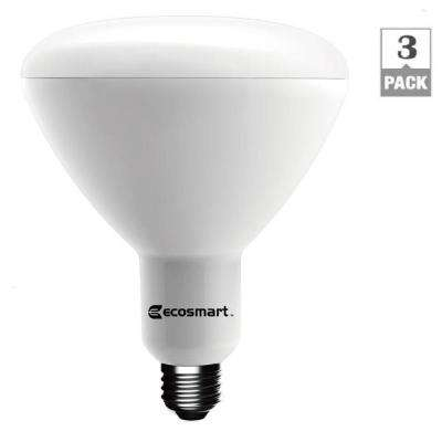 75-Watt Equivalent BR40 Dimmable LED Light Bulb, Soft White (3-Pack)