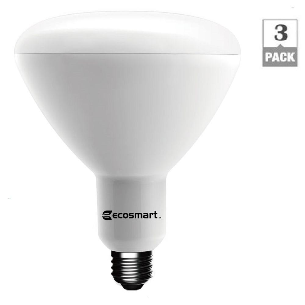 Home Depot Led Light Bulbs: EcoSmart 75W Equivalent Soft White BR40 Dimmable LED Light