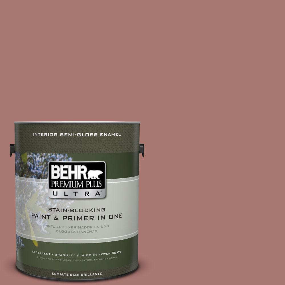 BEHR Premium Plus Ultra 1-gal. #160F-5 Rum Spice Semi-Gloss Enamel Interior Paint