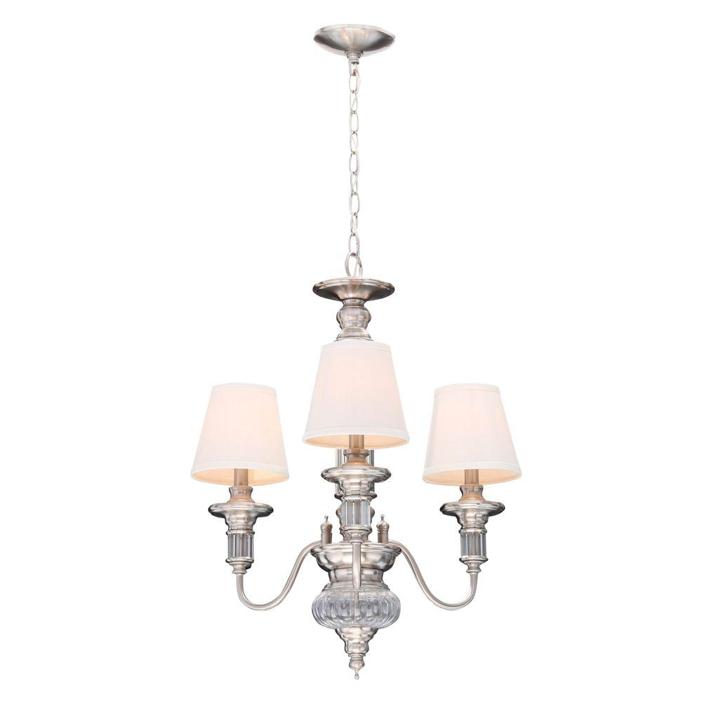 adf5290409a Hampton Bay Gala 3-Light Polished Nickel Chandelier-14696 - Bqiqi
