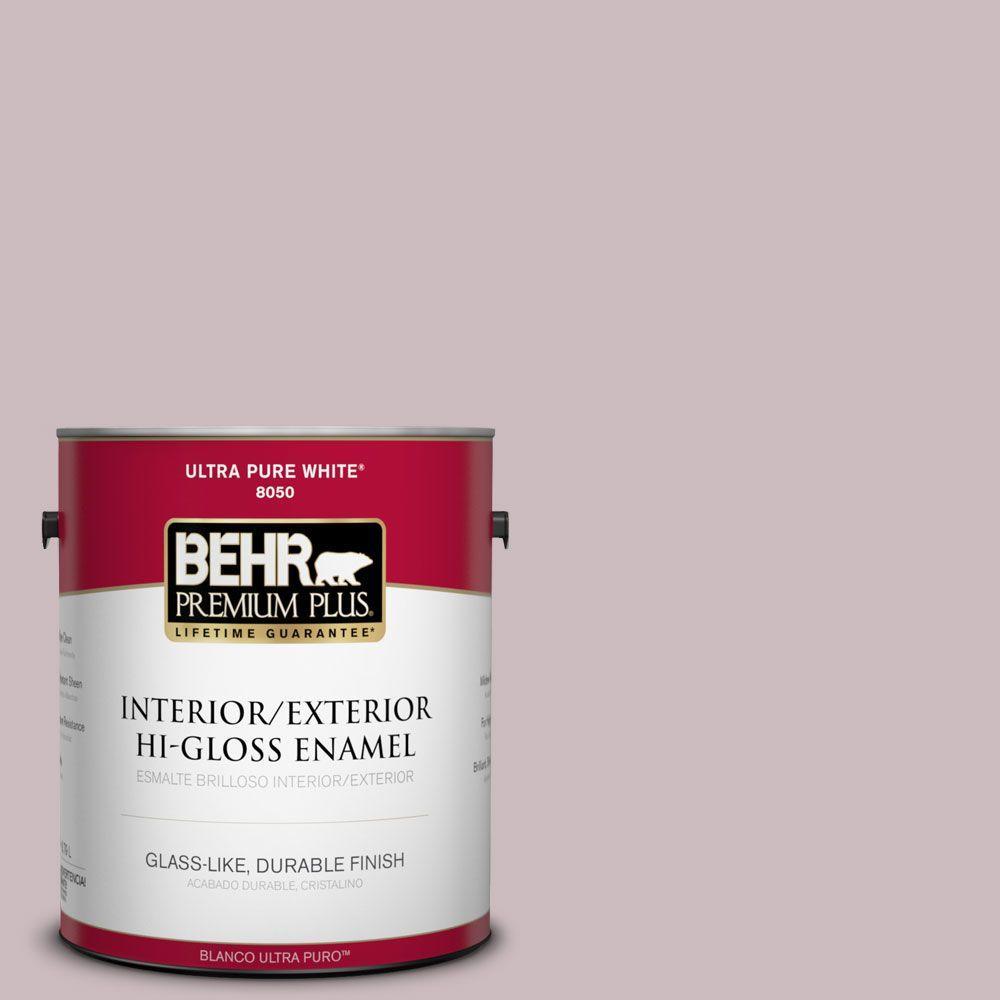 1-gal. #100E-3 Pastel Violet Hi-Gloss Enamel Interior/Exterior Paint