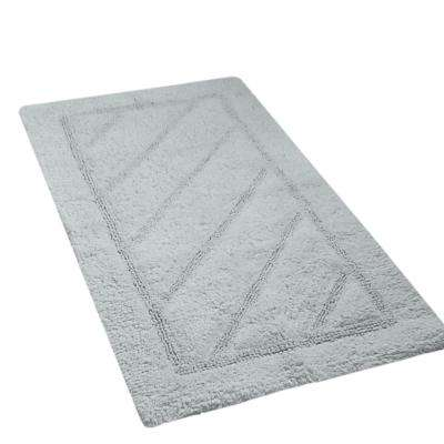 Ruby Collection 17 in. x 24 in. and 20 in. x 31 in. Heavyweight Hand Tufted Cotton Bath Rug Mat Set in Gray