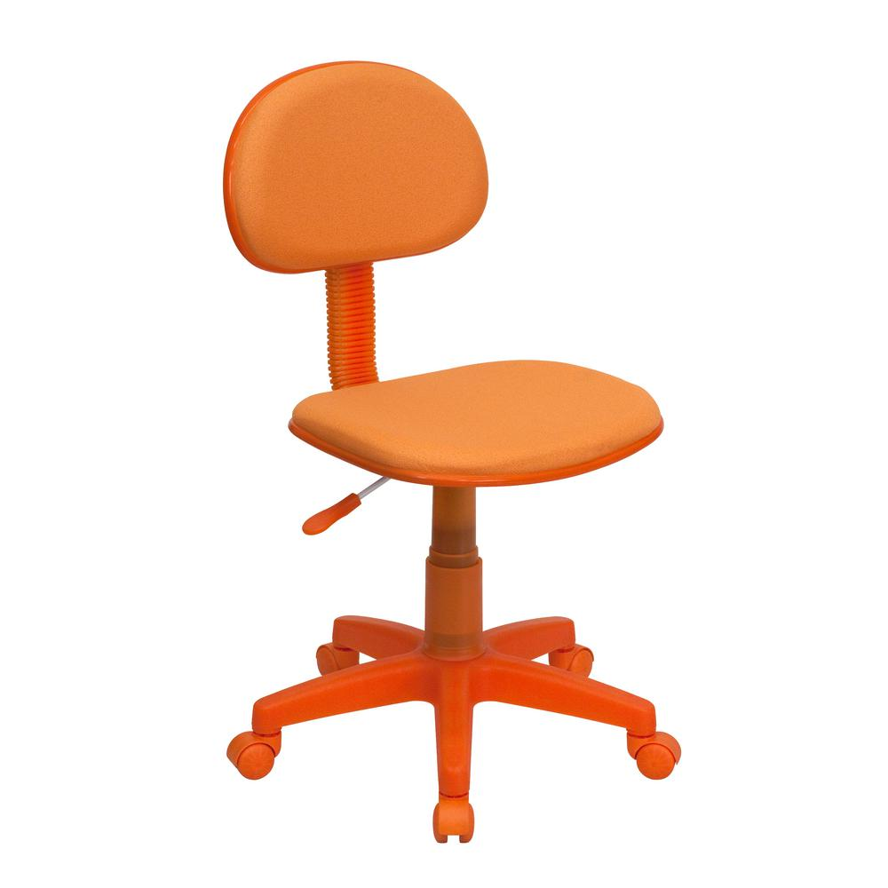 Flash Furniture Orange Fabric Ergonomic Swivel Task Chair
