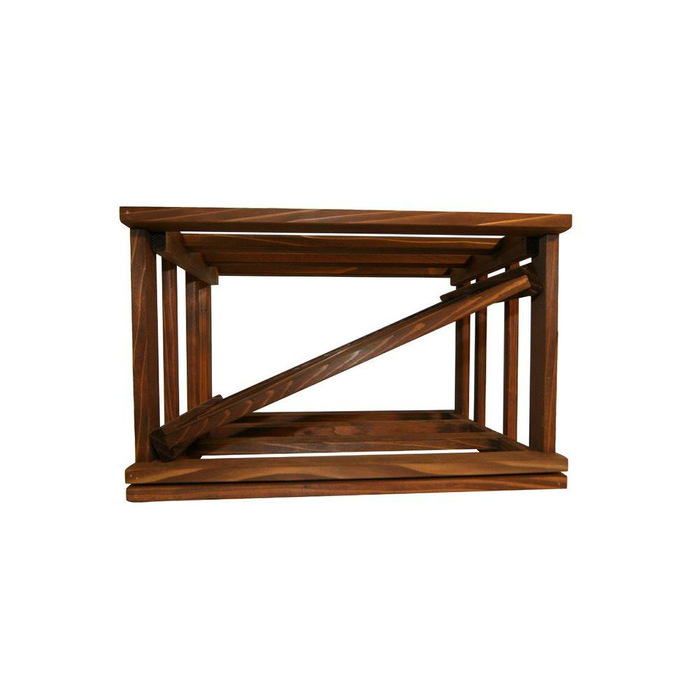 Mini Stack Series-Diamond Slat Dark Walnut Stain Wine Rack 11-15/16 in.