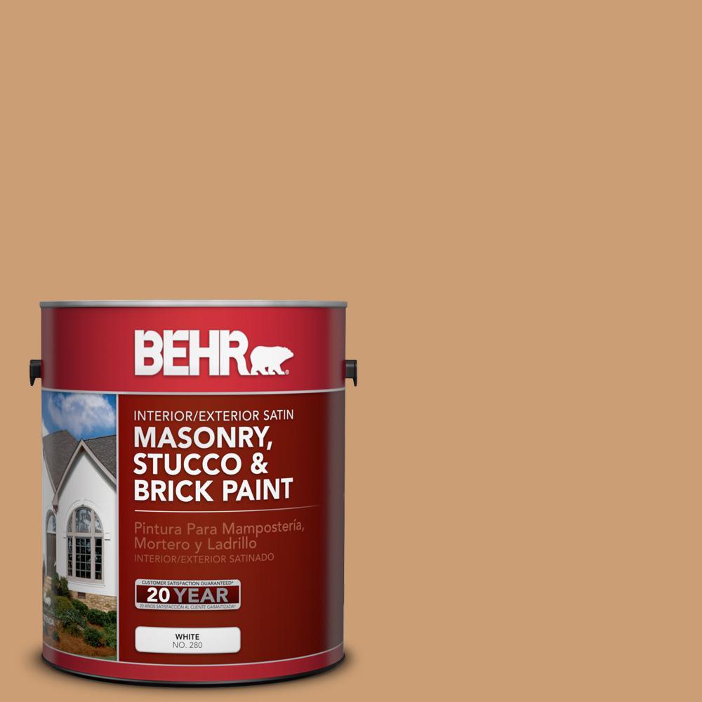 1 gal. #S250-4 Fresh Croissant Satin Interior/Exterior Masonry, Stucco and Brick Paint