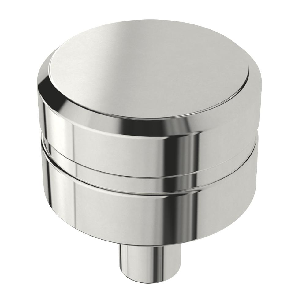 Liberty etched modern 1 in 26mm polished chrome round cabinet knob