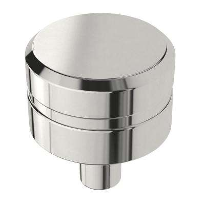 Etched Modern 1 in. (26mm) Polished Chrome Round Cabinet Knob
