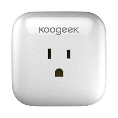 Smart Plug, Wi-Fi, for Apple HomeKit with Siri and Electronics Controller on 2.4Ghz Network