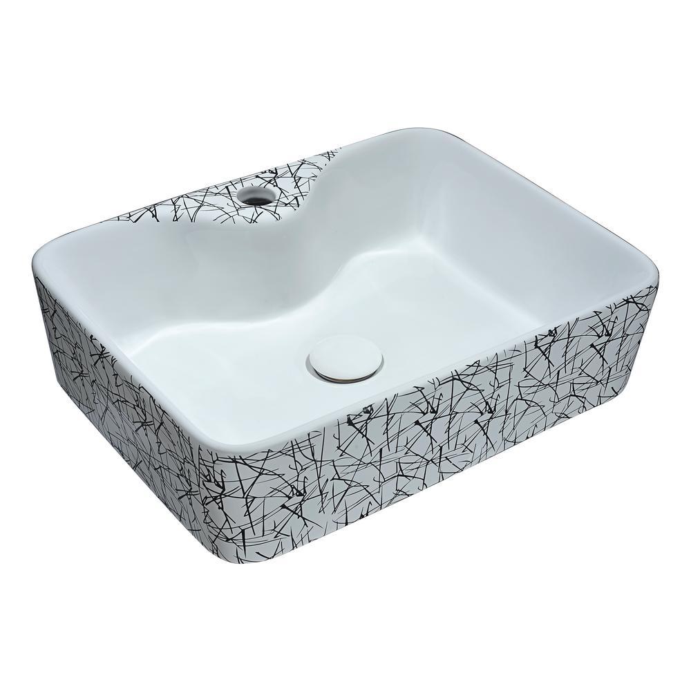 ANZZI Pegasus Series 8.5 in. Ceramic Undermount Sink Basin in White ...