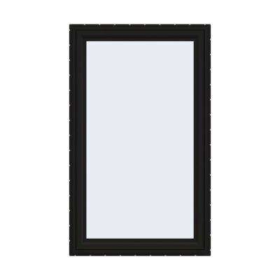 36 in. x 60 in. V-4500 Series Black FiniShield Vinyl Right-Handed Casement Window with Fiberglass Mesh Screen