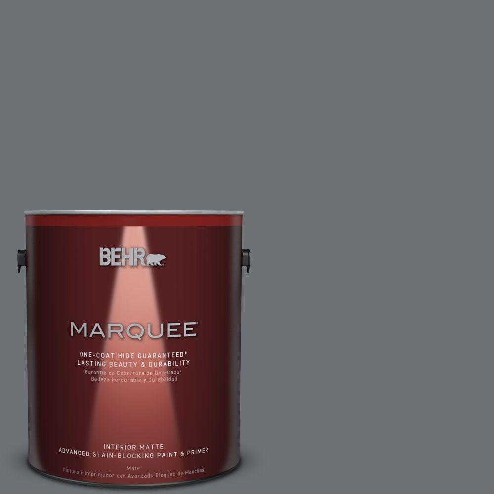 BEHR MARQUEE 1 gal. #MQ5-28 Dawn Gray One-Coat Hide Matte Interior Paint