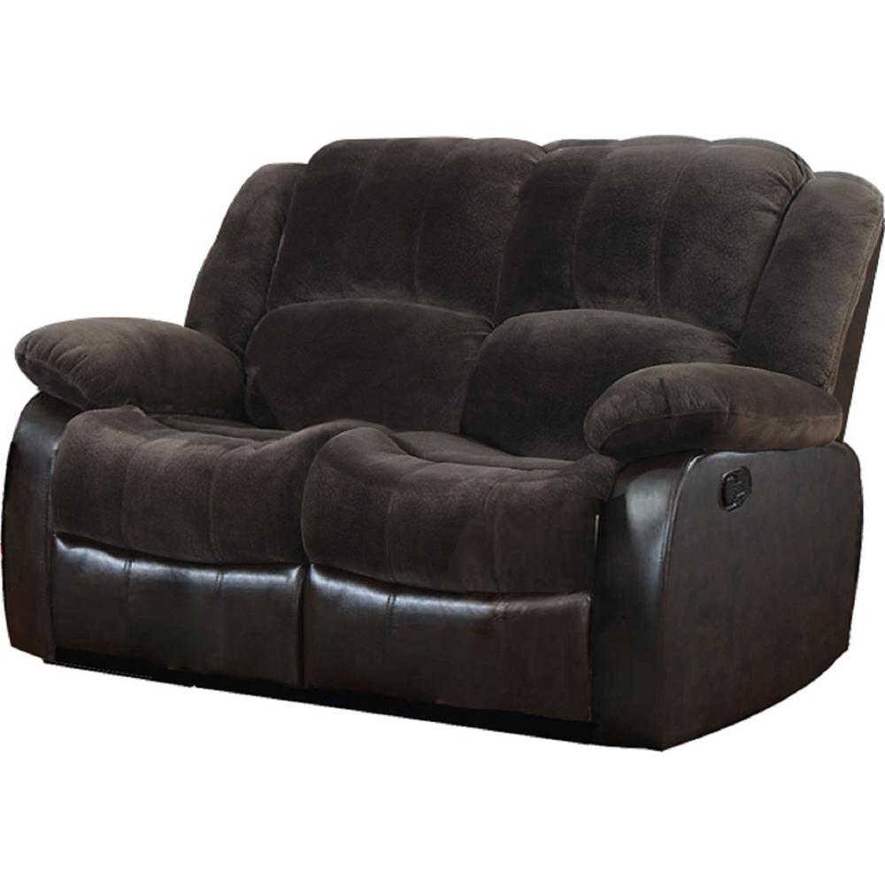 Brown Champion And Pu Motion Loveseat 2 Reclining Seats 71004 92