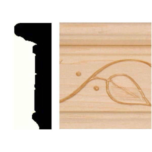 7/8 in. x 2-1/2 in. x 8 ft. Hardwood Chair Rail Moulding
