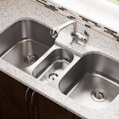 Undermount Stainless Steel 43 in. Triple Bowl Kitchen Sink