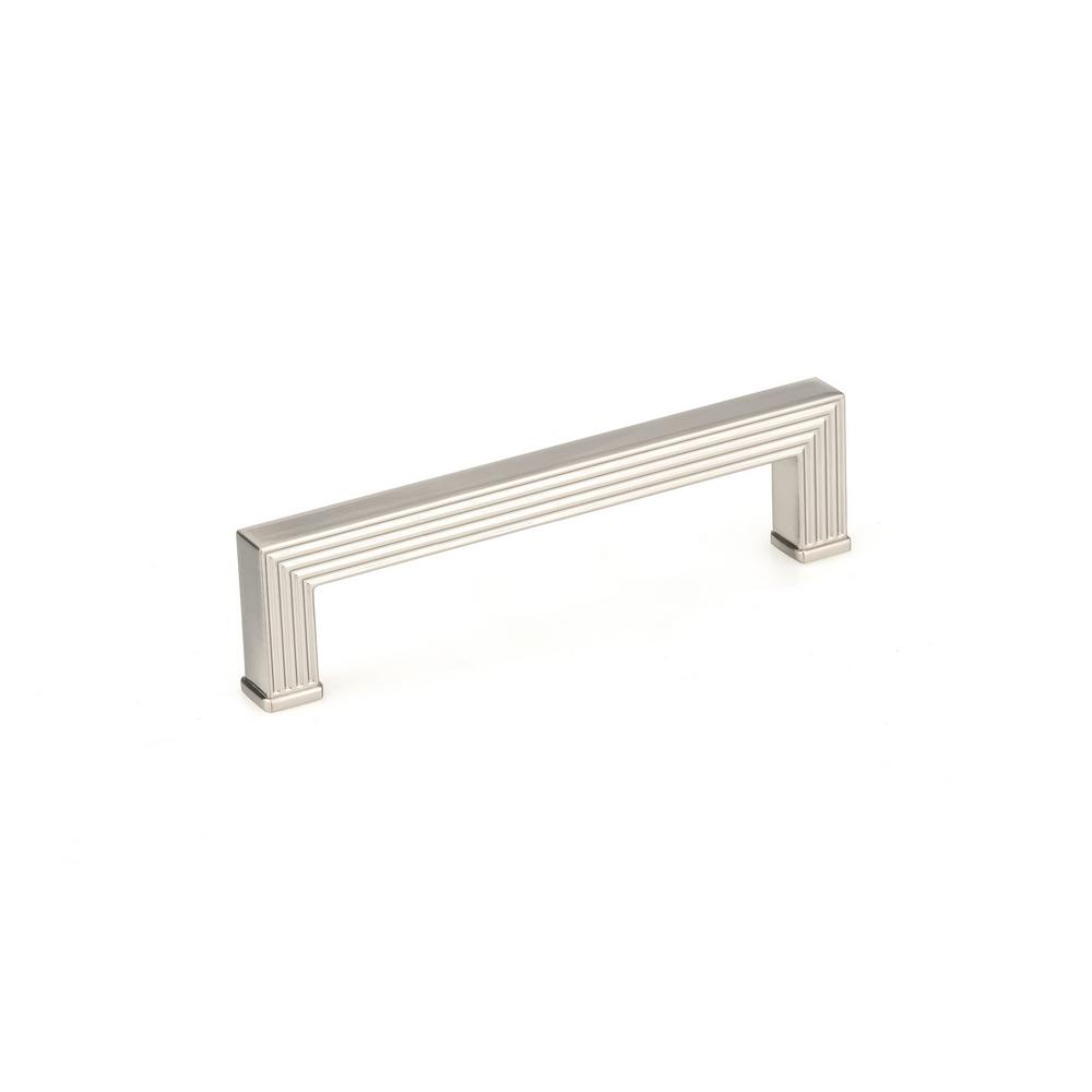 Richelieu Hardware 5-1/16 in. (128 mm) Center-to-Center Brushed Nickel Transitional Drawer Pull