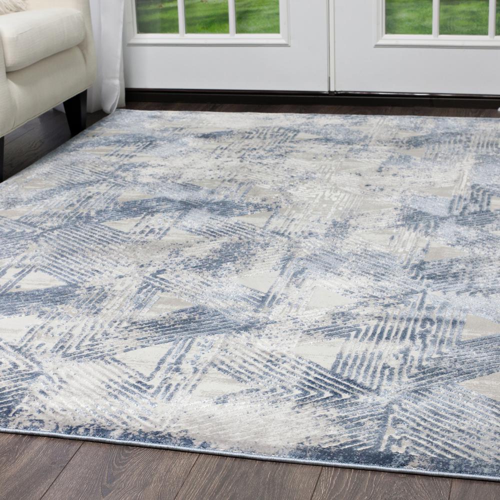 Kenmare Gray/Blue 8 ft. x 10 ft. Indoor Area Rug