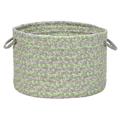 14 in. x 14 in. x 10 in. Rosemary Soft Corded Round Fabric Basket