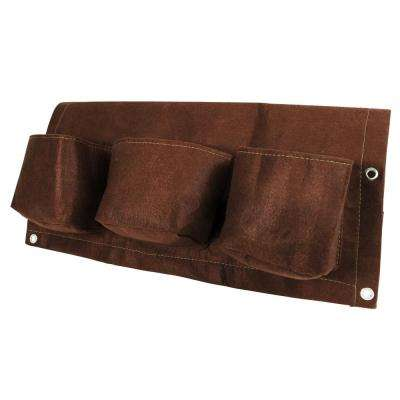 25 in. Chocolate Fabric Deck Rail Planter Bag