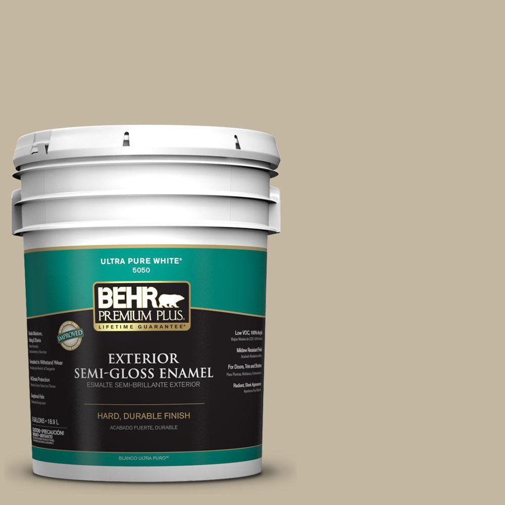 Home Decorators Collection 5-gal. #HDC-NT-09 Basic Khaki Semi-Gloss Enamel
