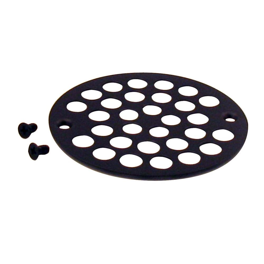 Oil Rubbed Bronze Shower Drain.Belle Foret 4 In Brass Shower Strainer Grid With Screws In Oil Rubbed Bronze