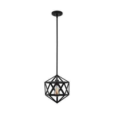 1-Light Oil Rubbed Bronze Mini Pendant