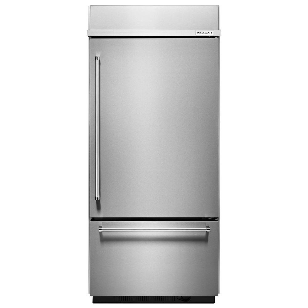 20.9 cu. ft. Built-In Bottom Freezer Refrigerator in Stainless Steel, Platinum