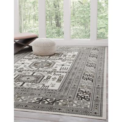 SAMS GOLD IMPORTS INC Sonoma Myan Ivory and Grey 3 ft. 2 in. x 4 ft. 6 in. Area Rug, Ivory/ Grey