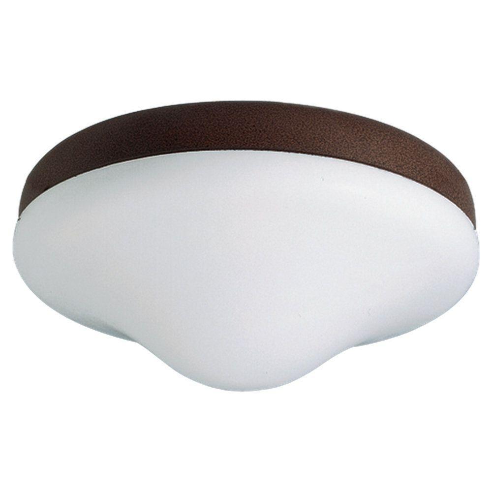 2-Light Bronze Ceiling Fan Light Kit with LED Bulbs