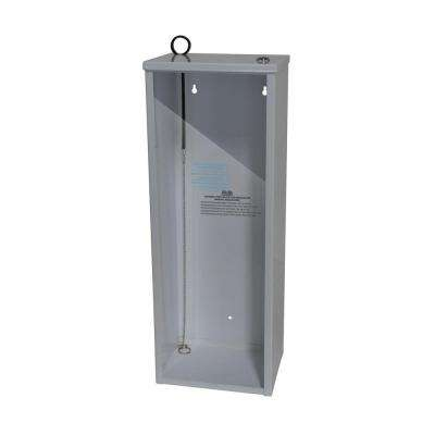 22.33 in. H x 8.40 in. W x 6.38 in. D 5 lbs. Steel Surface Mount Fire Extinguisher Cabinet in White