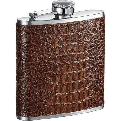Ethan Handcrafted Tan Leather Liquor Flask