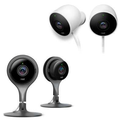 Nest Cam Indoor Security Camera (2-Pack) and Google Nest Cam Outdoor Security Camera (2-Pack)