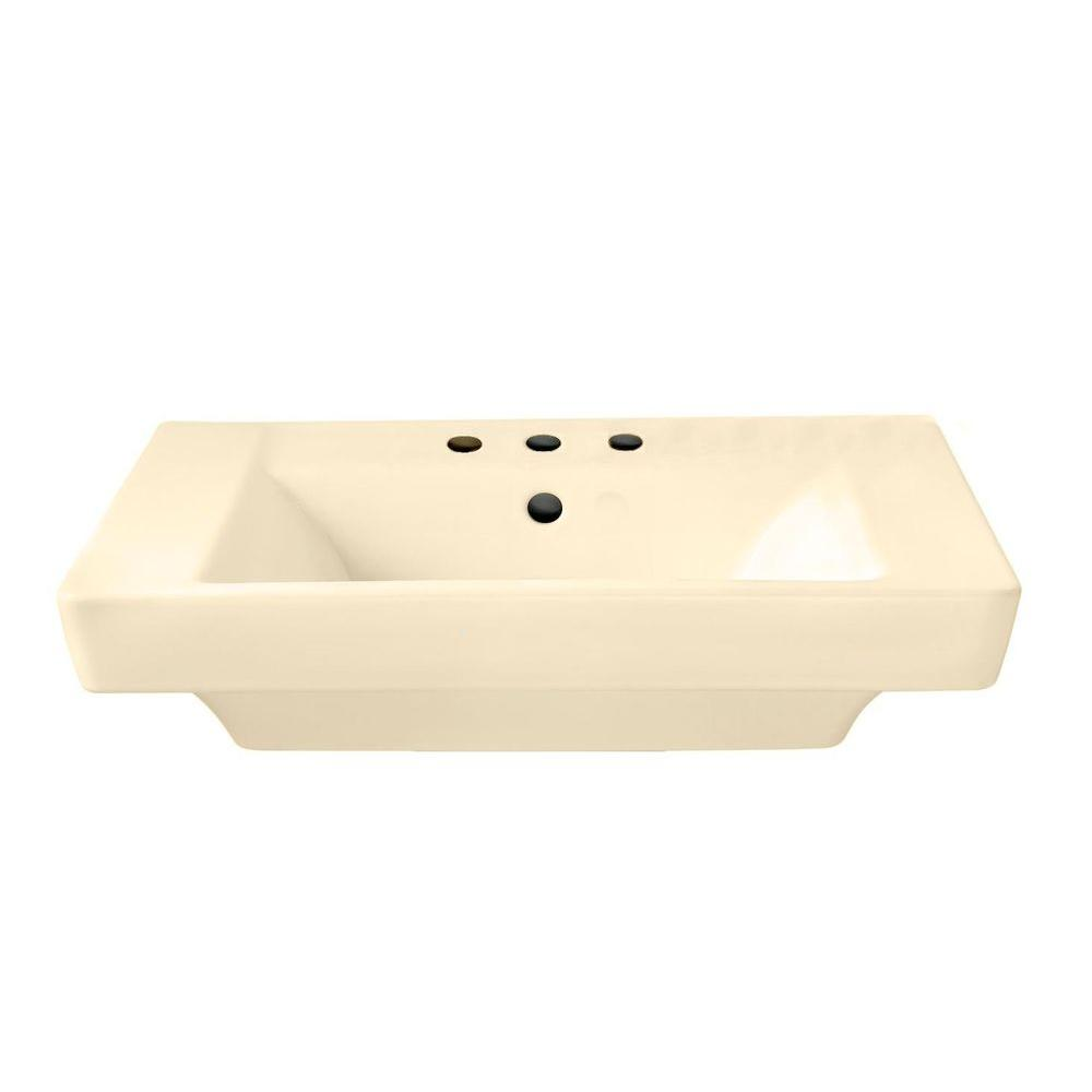 American Standard Boulevard 19 in. Pedestal Sink Basin in Bone-DISCONTINUED