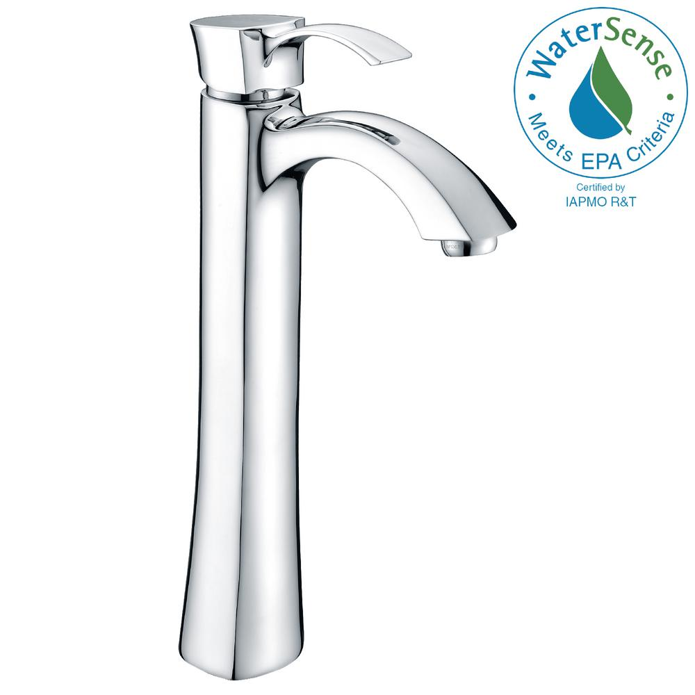 Harmony Series Single Hole Single-Handle Vessel Bathroom Faucet in Polished