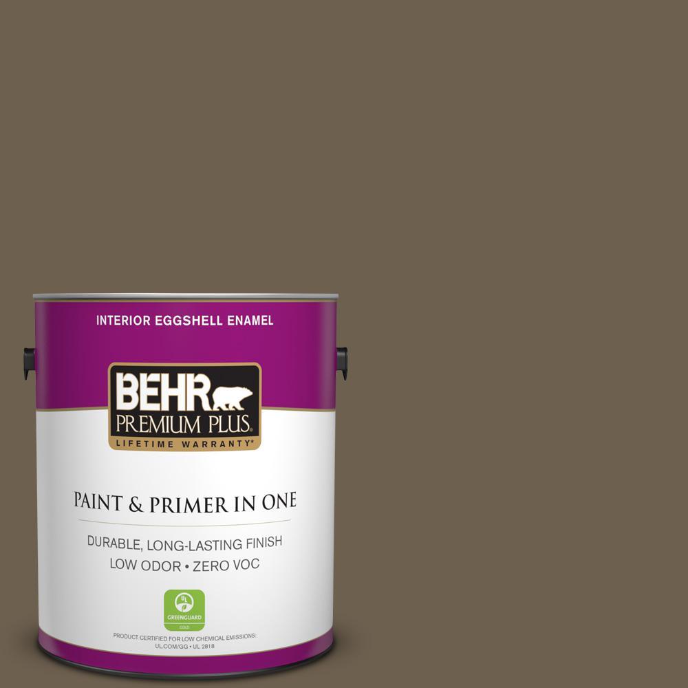 BEHR Premium Plus 1-gal. #N310-7 Classic Bronze Eggshell Enamel Interior Paint