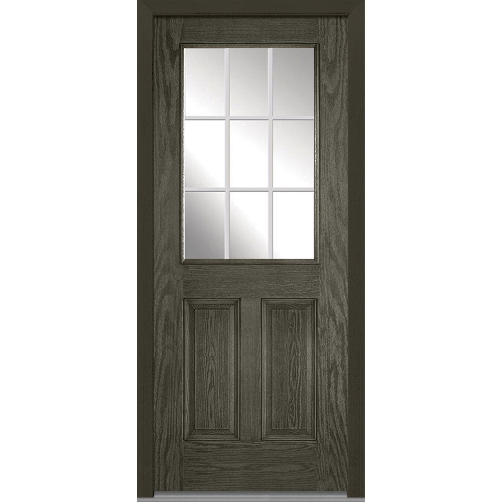 MMI Door 32 In. X 80 In. Grilles Between Glass Right Hand 1