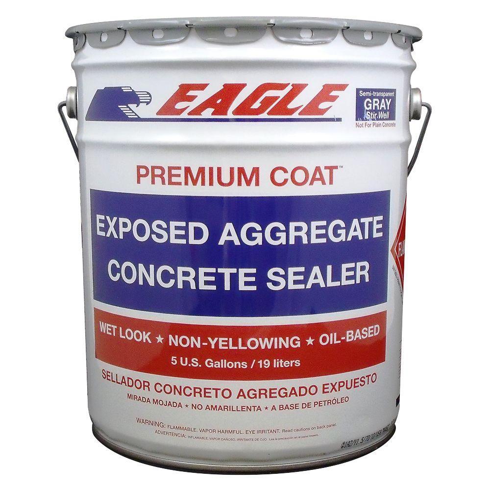 5 gal. Premium Coat Gray Semi-Transparent Wet Look Glossy Solvent-Based Acrylic