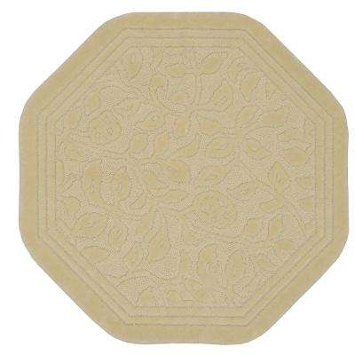 Wellington 6 ft. x 6 ft. Nylon Octagon Bath Rug in Ivory