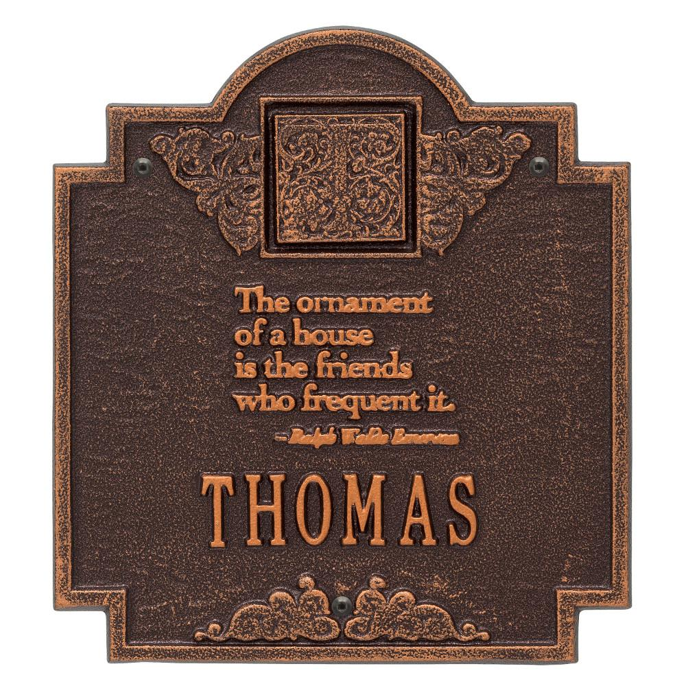 10 75 in x 11 75 in emerson monogram plaque 1504ac the home depot