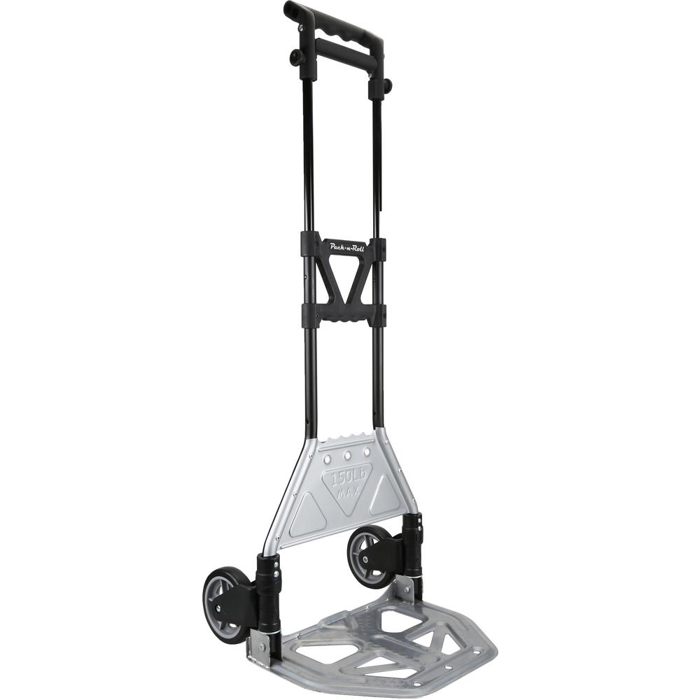 68aa6e50c950 OLYMPIA Pack-N-Roll 150 lb. Heavy Duty Folding Hand Truck with Load Support  and Steel Toe Plate