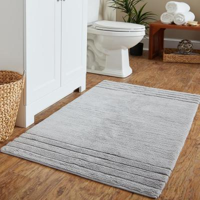 Empress 30 in. x 50 in. Cotton Bath Mat in Gray